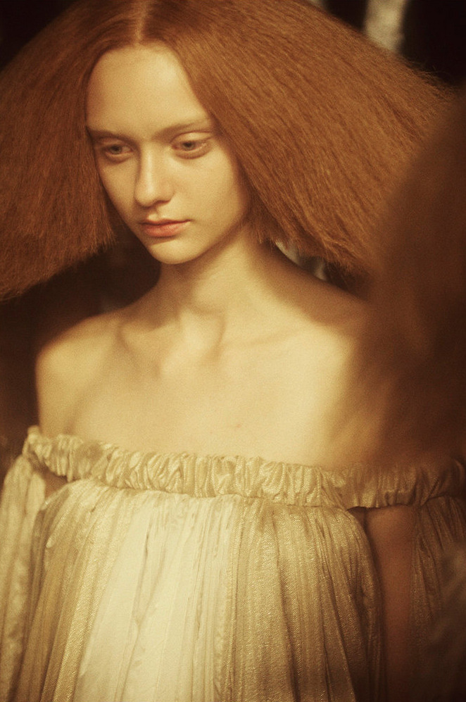 trankillement:  Hair by Luigi Murenu for Rick Owens spring 2013.