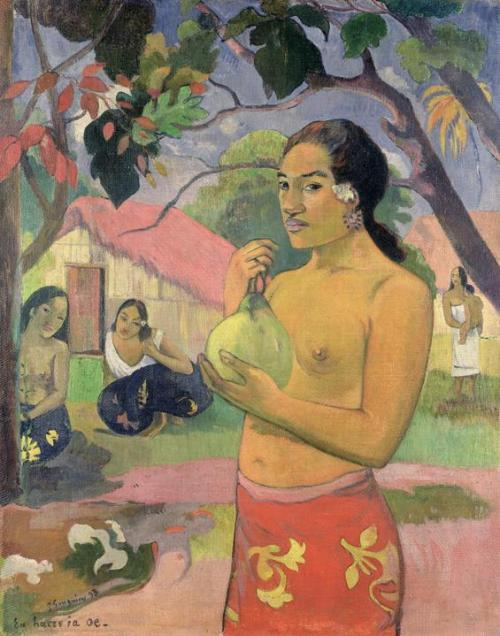 Paul Gauguin, Woman with Mango, 1893