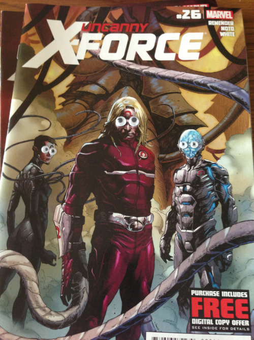 Ok, who googlied Abe Sapien and put him in an X-force cover?