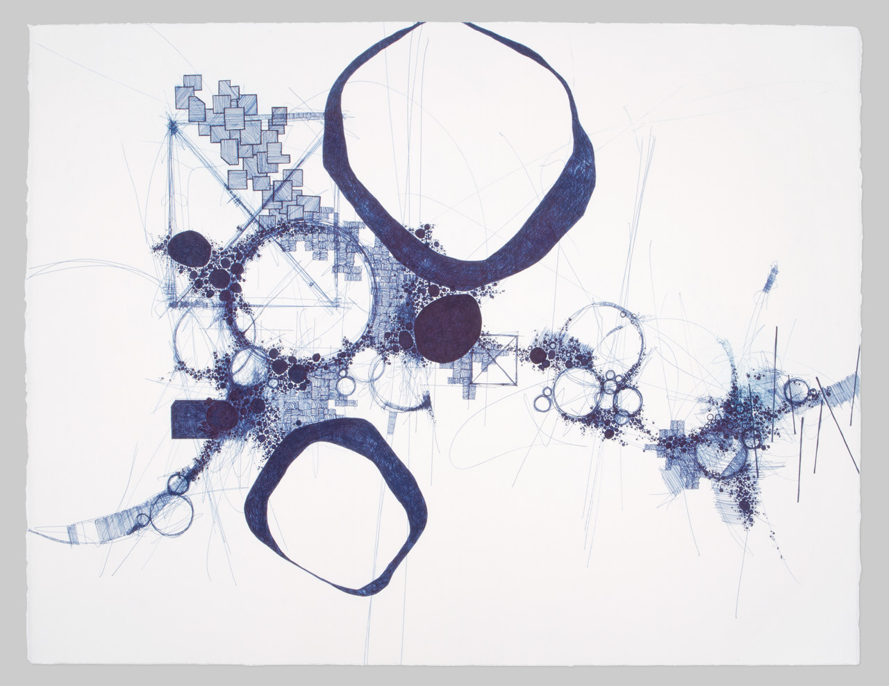 Asvirus 27  Derek Lerner - 2011 Ink on paper 20 x 26 in