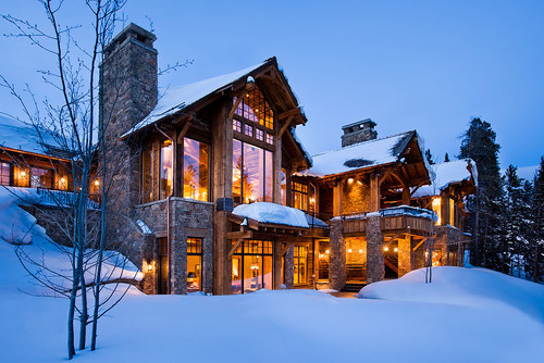 georgianadesign:  The Bear Trap. Big Sky, MT home. Teton Heritage Builders.