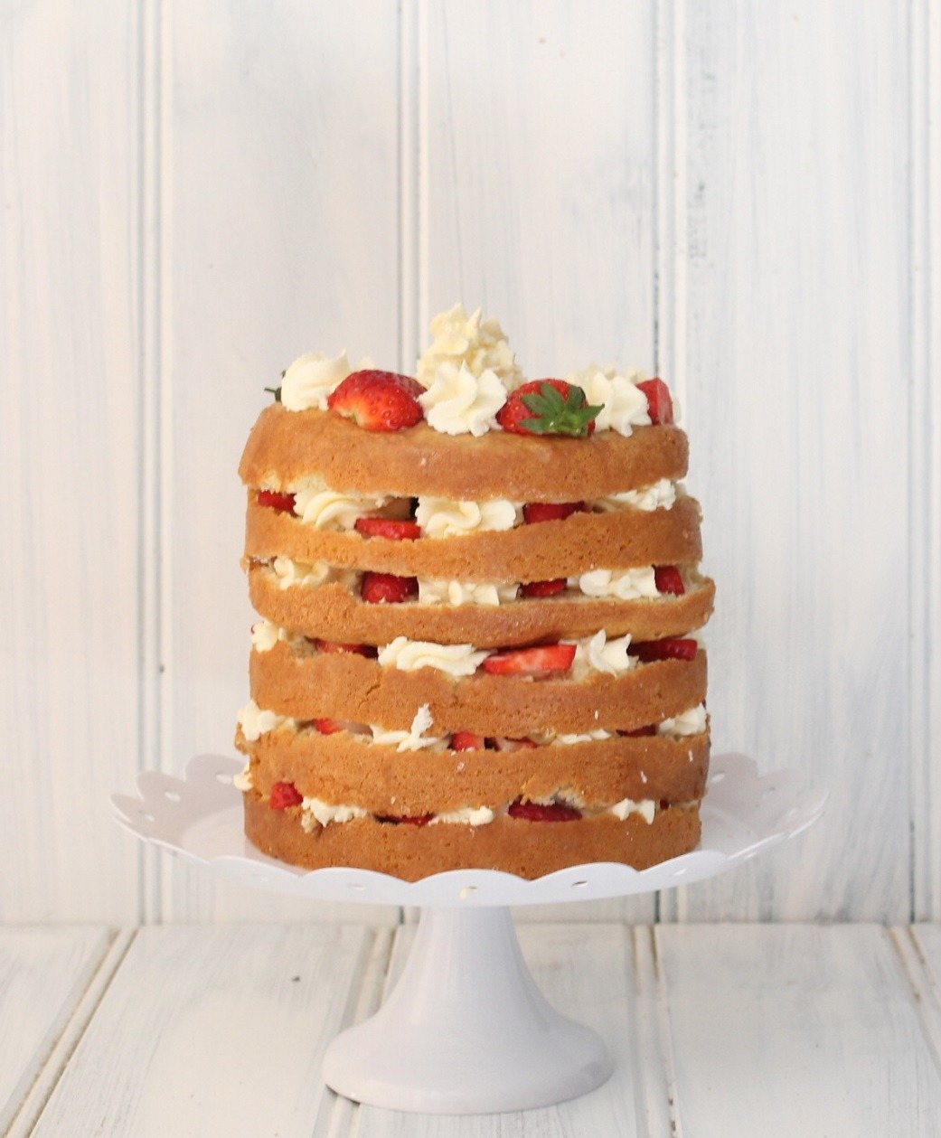 Strawberry and Cream Tres Leches Layer Cake