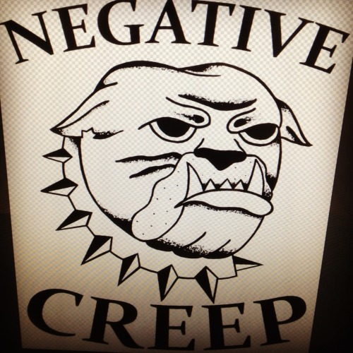 Design for my new band NEGATIVE CREEP. Check out two songs at   http://negativecreep.stereokiller.com   Looking to do more designs for bands as well for cheap. If your band wants something made shoot me an email at chrisnoluck@yahoo.com