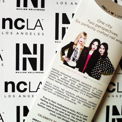 Excited to share the #NailingHollywood + @shopncla #collaboration out early this #spring13  @jennahipp @mpnails @stephstonenails
