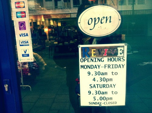 A little reminder of our opening hours.