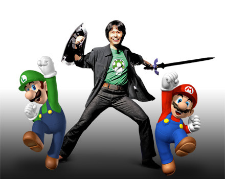 juliasegal:  haisen:  Shigeru Miyamoto, Luigi, Mario  This is Nerd Patrol…you are under arrest for being too awesome…