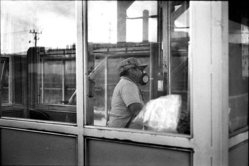 Toll Booth worker, San Jose, Costa Rica 2012