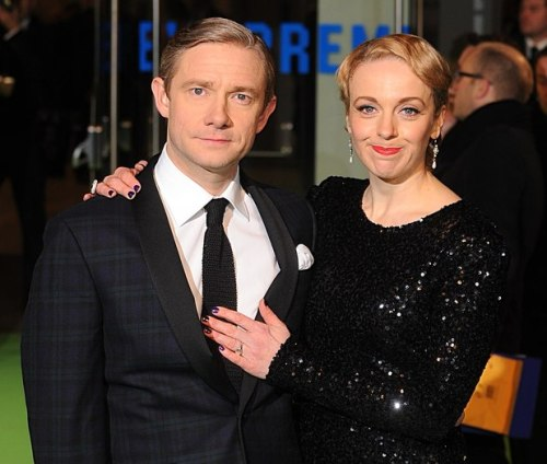 "freelockedmage:    Amanda Abbington has revealed that she recently underwent surgery to remove a lump from her breast.Martin Freeman's longtime girlfriend was informed of the need for surgery for the lump - which was ultimately benign - during the actor's 18-month shoot for The Hobbit movies in New Zealand. The Sherlock star wanted to come back to the UK to be with his partner, but the actress insisted that he continued his work.""I said I'd be fine, but he was desperately worried. It was horrible for him,"" Abbington is quoted as saying in The Mirror.""I found the lump after dropping the kids at school. I was sent to a ­specialist breast unit. They said they needed to get it out quickly because they didn't know if it was malignant. I burst into tears and thought, 'Oh no. I'm going to die. I won't see my children grow up'.""Abbington said that she cried tears of joy when she was told that the lump was a benign milk gland tumour. ""When I got the result I burst into tears of sheer relief. What happened has made me value my life so much. Work is great, of course, but your family and health really are everything,"" she continued.Abbington added that Freeman made sure to send her his own support despite being many miles away.""I was at home one day when a package from Martin arrived. He sent me a beautiful bracelet and ring with a note saying he hoped it would cheer me up. How wonderful is that? I'm lucky to be with someone as romantic now as he was when we met 12 years ago.""Freeman and Abbington have been together since the year 2000, and are parents to two children, Joe and Grace.     source:[X]  All my best wishes…."