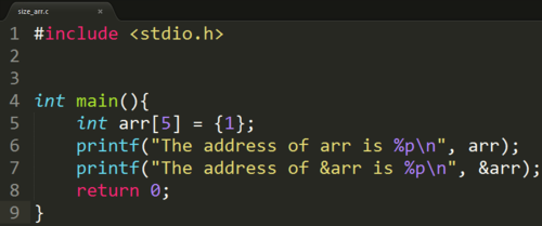 how to make array in c