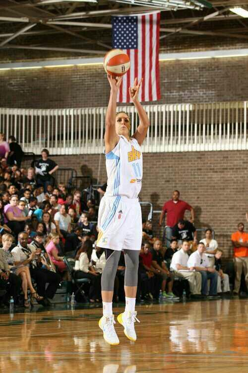 Elena Delle Donne had 17 points for the Chicago Sky - 15 in the first half - in a pre-season win over the New York Liberty on May 15, 2013.