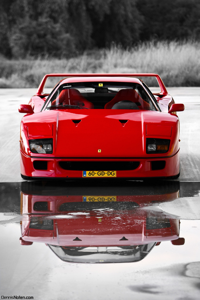 carpr0n:  Heart on fire Starring: Ferrari F40 (by Denniske)