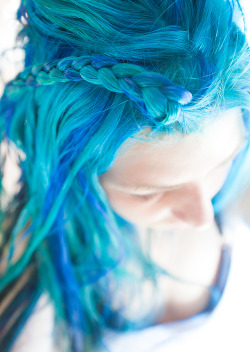 Manic Panic Rockabilly and Manic Panic Voodoo Blue braid! I like being a smurf.