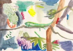 'Lizard Lounge', watercolour, 2012 'Chameleon Den, watercolour, 2012 (SOLD)