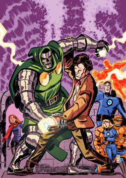 Doctor Who VS Doctor Doom by ~danmcdaid