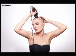 Getting Rid of Her Hair before the Chemo starts. .Heather is a good friend of mine, second time having breast cancer.. She's a fighter!
