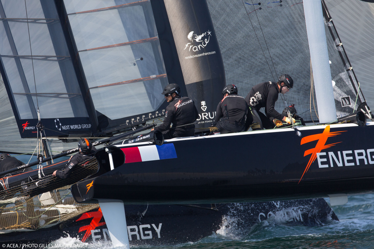 Strong performances by ORACLE TEAM USA SLINGSBY and Energy Team along with a jarring collision between Emirates Team New Zealand and Luna Rossa Challenge were the hallmarks of Day 2 at America's Cup World Series Naples.