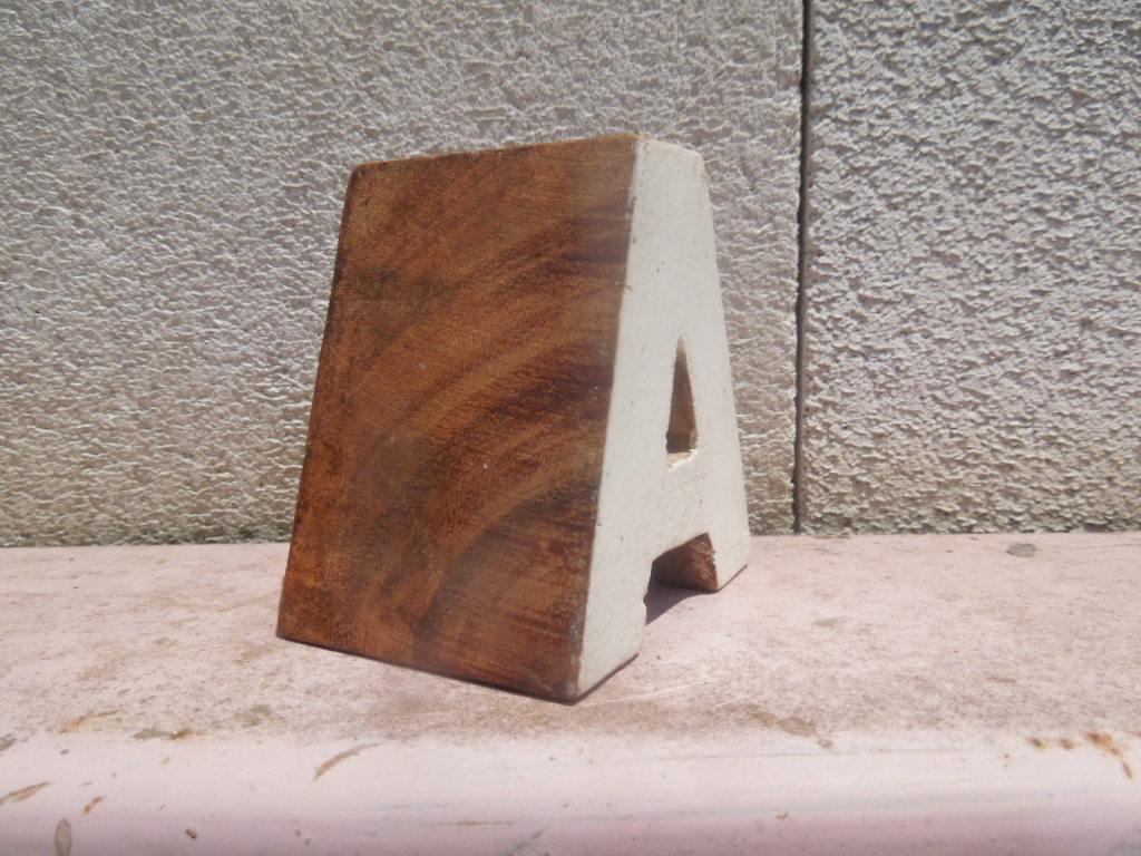 Typography タイポグラフィー雑貨 新品 Wood Block 木製のアルファベット、ナンバー ブロック