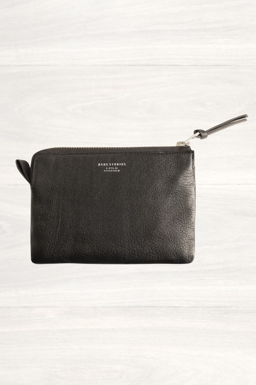 wantering:  Acne Jasper Black Large Zip Pouch  This would look amazing in my hand