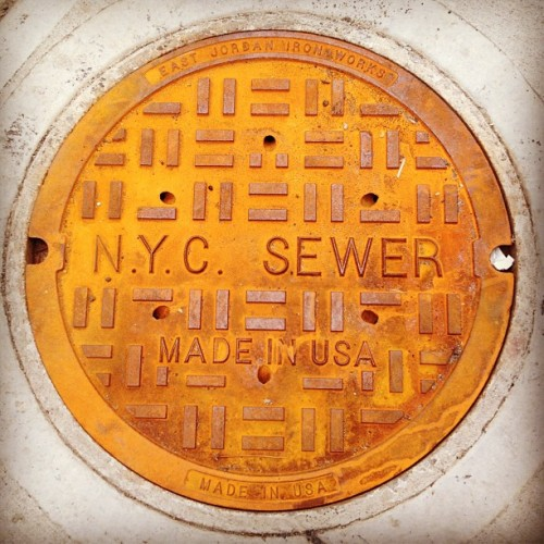 Oy, such a nice patina! #nyc #sewer #rust