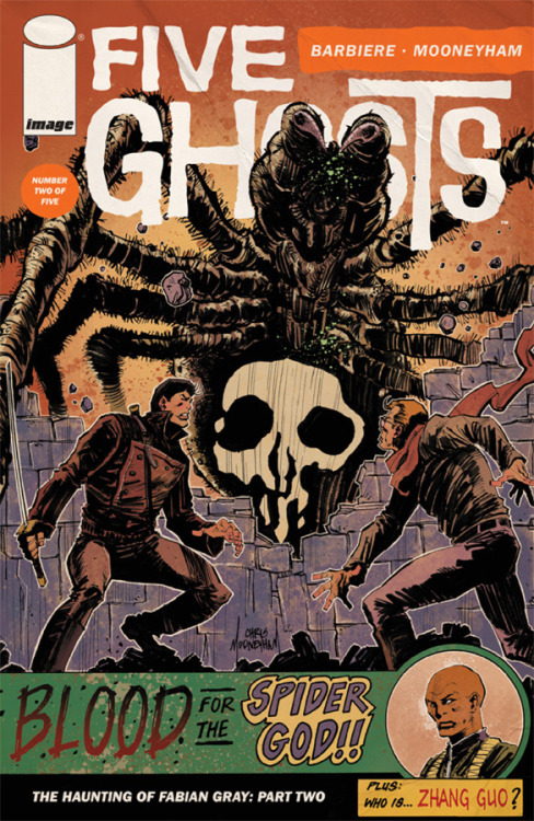 FIVE GHOSTS #2 is out today! Besides being one of the best books this year, this issue begins our short backup story INTELLECTUAL PROPERTY! Art by Jason Copland, Shaky Kane, and Sloane Leong, words by us. Big thanks to Frank Barbiere, Chris Mooneyham, Shane Vidaurri, and everyone at Image Comics. Go support a great book and consider our story a thank you.