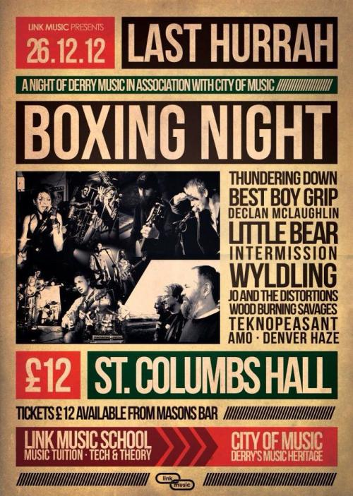 THEE only place to be this Boxing Day in Derry!Get your tickets NOW from Masons Bar!They're going FAST!