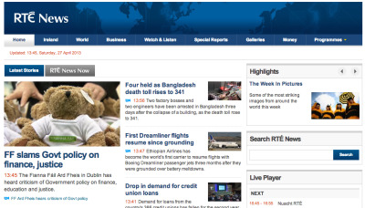 Operation Cuddly a success: RTÉ News' webpage right now.  That teddy bear rose up through the ranks quickly.