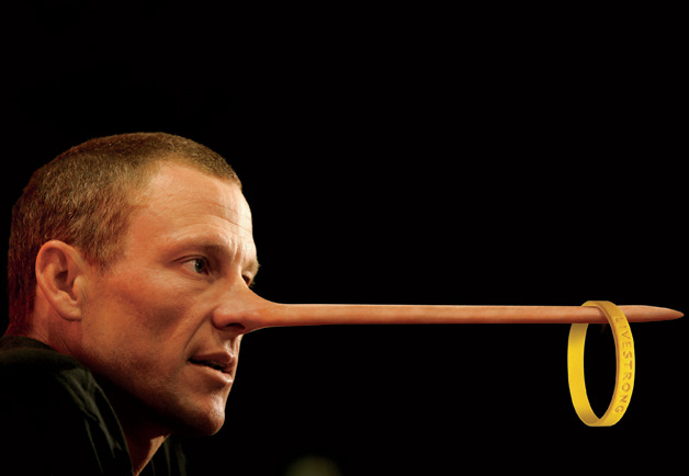 Lance Armstrong or Pinocchio? (via gq)