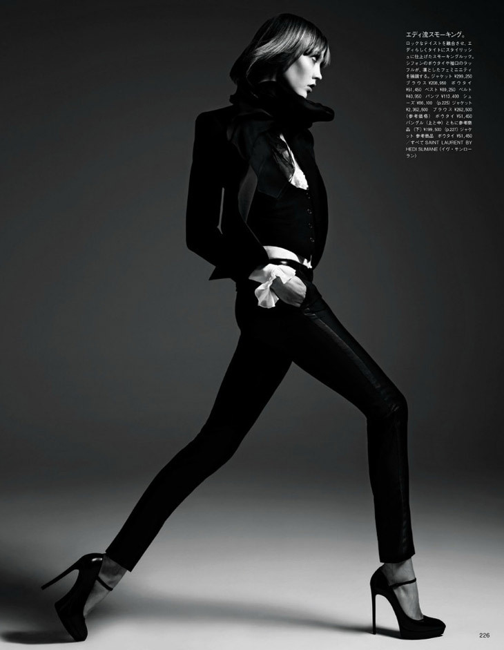 Karlie Kloss by Hedi Slimane for Vogue Japan