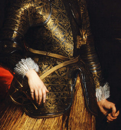 jaded-mandarin:  Detail from Portrait of Emmanuel Philibert of Savoy, Prince of Oneglia.