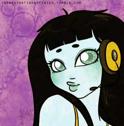 Masumi 'selfie' for my Monster High RP blog. She's making a duck face like a good teenage girl should. :D