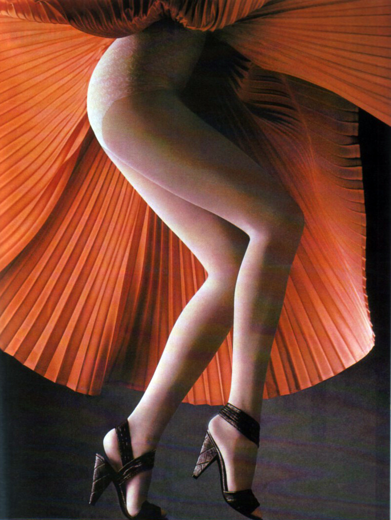 periodicult:  Bi hosiery, Vogue Deutsch, February 1985.
