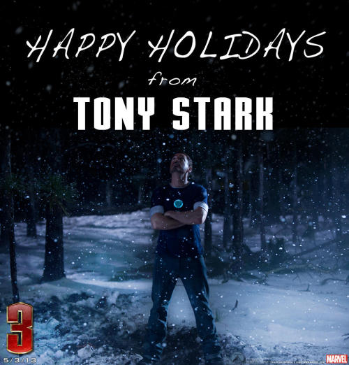 Happy Holidays From Tony Stark