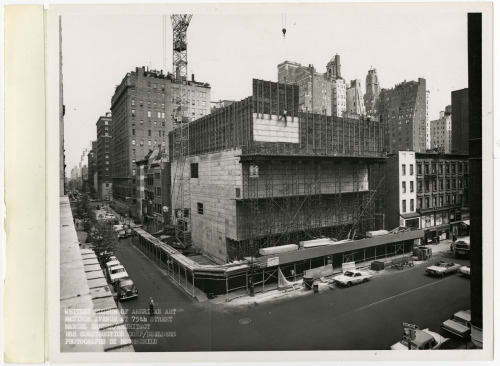 Whitney Museum of American Art, New York, N.Y.under construction, 1965Marcel Breuer Photo by Rothschild