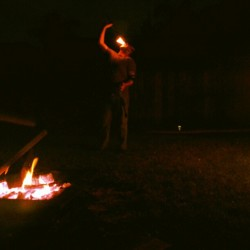 Doesn't everyone watch people eat fire in a backyard on thursday evenings? #mylife #fireeater #fire.