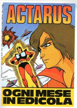 Actarus: italian comics vintage monthly magazine with Duke Fleed adventures (no Grendizer in the story).