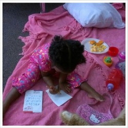 Working on her ABC's #lovemyniece #education #ABCs #interactivelearning @shonnieb1985