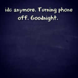 I'm tired anyways…