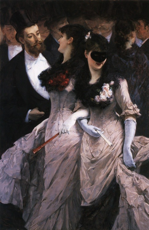 fleurdulys:  At the Masquerade - Charles Hermans