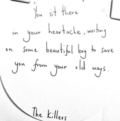 littlegirlostinthemoment:  the killers x on @weheartit.com - http://whrt.it/VQiiFc
