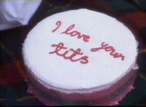 Say it; with cake.