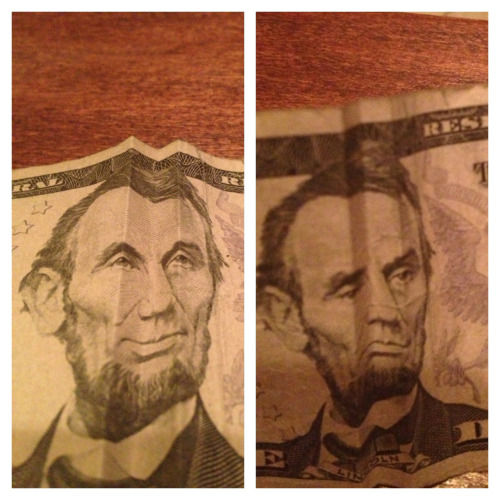 Happy Abe. Sad Abe.