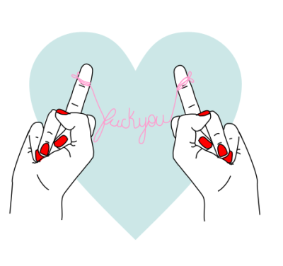 foolishheartz:  f*** you  on @weheartit.com - http://whrt.it/15dJSQX