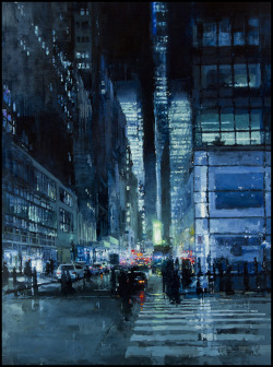 blua:  New York City Painting by Jeremy Mann
