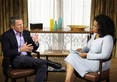 "nbcnews:  Oprah: Armstrong 'forthcoming' in interview about drug use (Photo: Harpo Studios via Reuters) Oprah Winfrey says Lance Armstrong was ""forthcoming"" in their 2.5 hour interview, a session during which the disgraced cyclist admitted using performance enhancing drugs to win the Tour de France, NBC News has confirmed.  Read the complete story.  Some critics say Armstrong must face tougher questions than the Oprah interview."