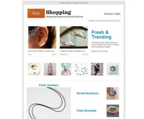 My pastel & metallic statement necklaces were featured in the Etsy UK newsletter today, how exciting!