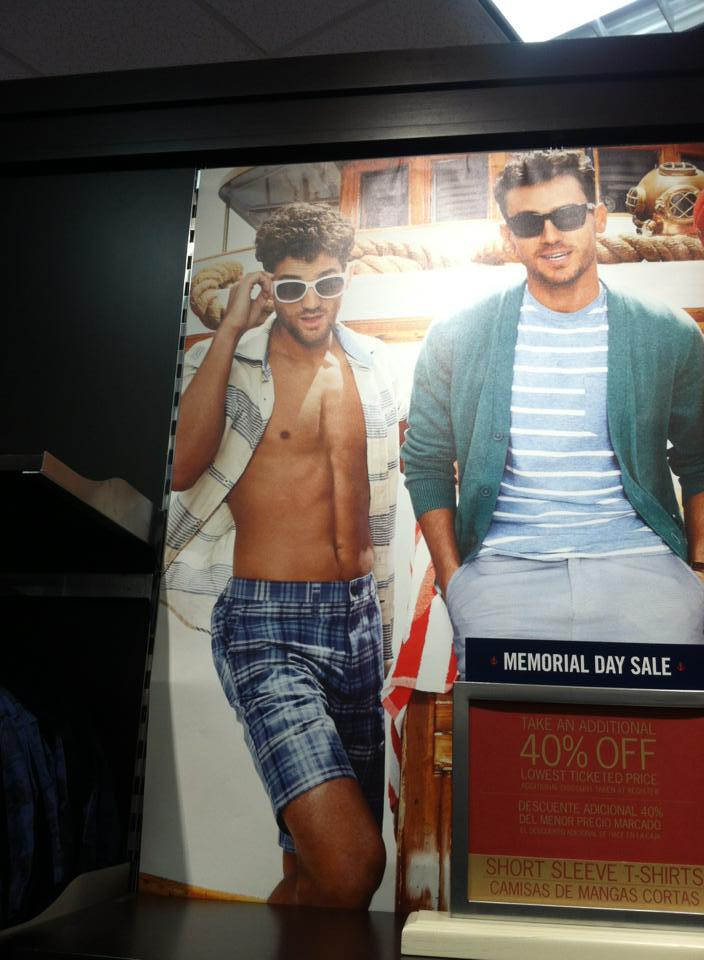 dapperdreams:  So I was at Tommy Hilfiger today and my dad pointed this out to me. Tell me you see what I see.