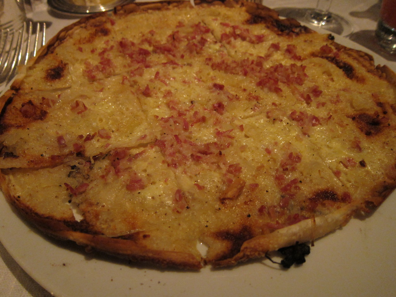 Tarte Flambee from The Delaunay in London - yes quite similar to a pizza
