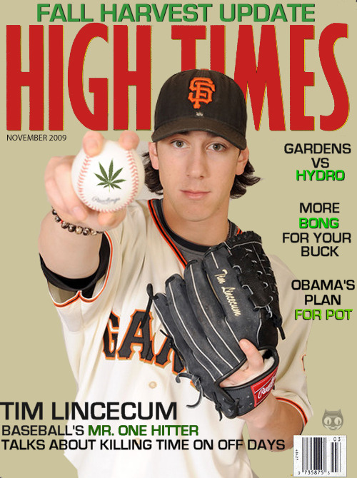 Hoping for a headline after tonight's game, LINCECUM SMOKES PADRES WITH BLUNT FORCE