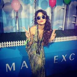 vanessahudgens:  @NeonCarnival was amazing. Year after year @armaniexchange kills it! #neoncarnival