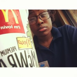 On break  (at McDonald's)
